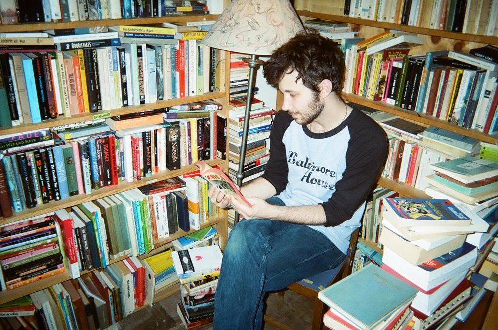 Inside Rust Belt Books. Taken with disposable camera.