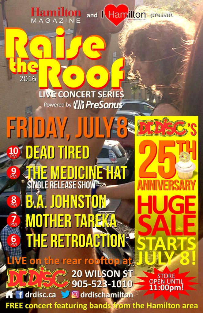 I HEART HAMILTON CO-PRESENTS RAISE THE ROOF @ DR. DISC (JULY 8)