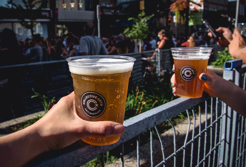 Collective Arts beer garden at Supercrawl. Photo by Lisa Vuyk