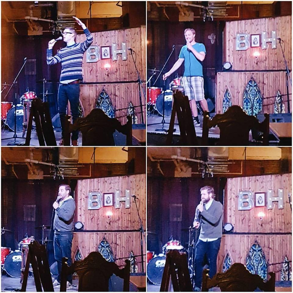 Kev Sheeler, Devin Bateson, Nick Durie, Anthony Mlekuz performing at Baltimore House, June 2016