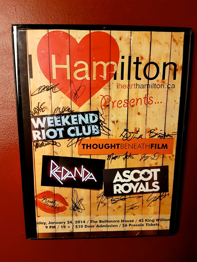 Poster of I Heart Hamilton's first show at The Baltimore House, January 2014