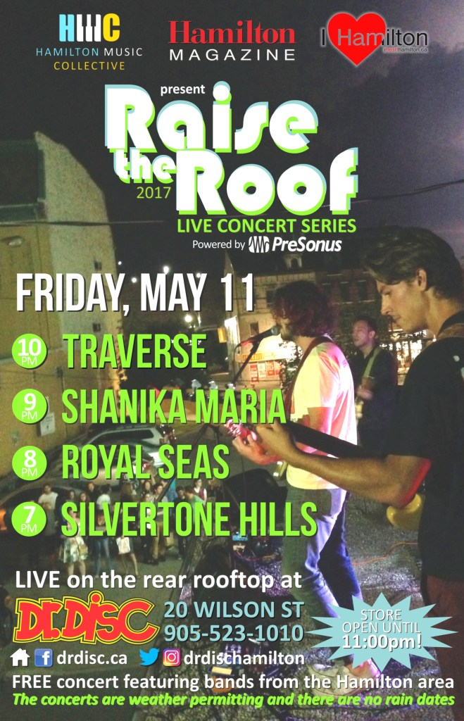 I HEART HAMILTON CO-PRESENTS RAISE THE ROOF @ DR. DISC (May 11)