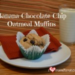 Banana Chocolate Chip Oatmeal Muffins