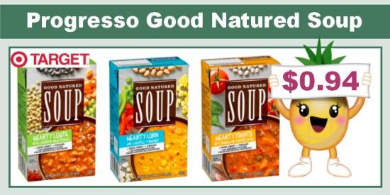 Progresso Good Natured Soup coupon deal