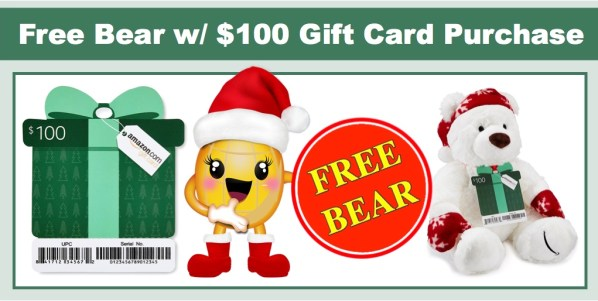 Amazon: FREE Holiday Bear with $100 Gift Card Purchase