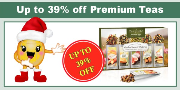 Up to 39% off Premium Tea Forté Teas and Accessories