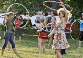Hooping class at the Union Project