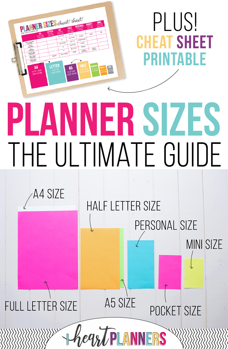 Size M Planner Sizes The Ultimate Guide I Heart Planners