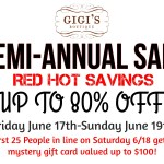 Up to 80% off at Gigi's annual sale