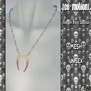 {CoMotion} Vampire Fang Necklace Advert