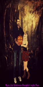 Mmm...Kay! Halloween Pumpkin Couples Pose
