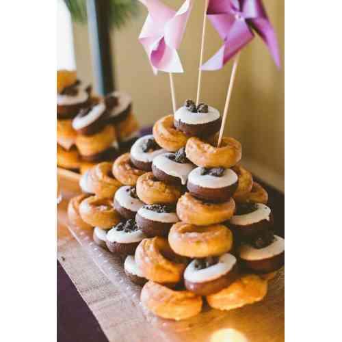 Medium Crop Of Donut Wedding Cake