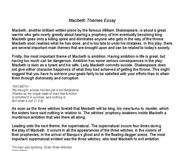 essays about macbeth tragic hero