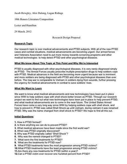 Sample Thesis Proposal For Biology - Thesis proposal example 2