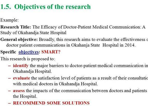 How to write objectives of the study in research - Research