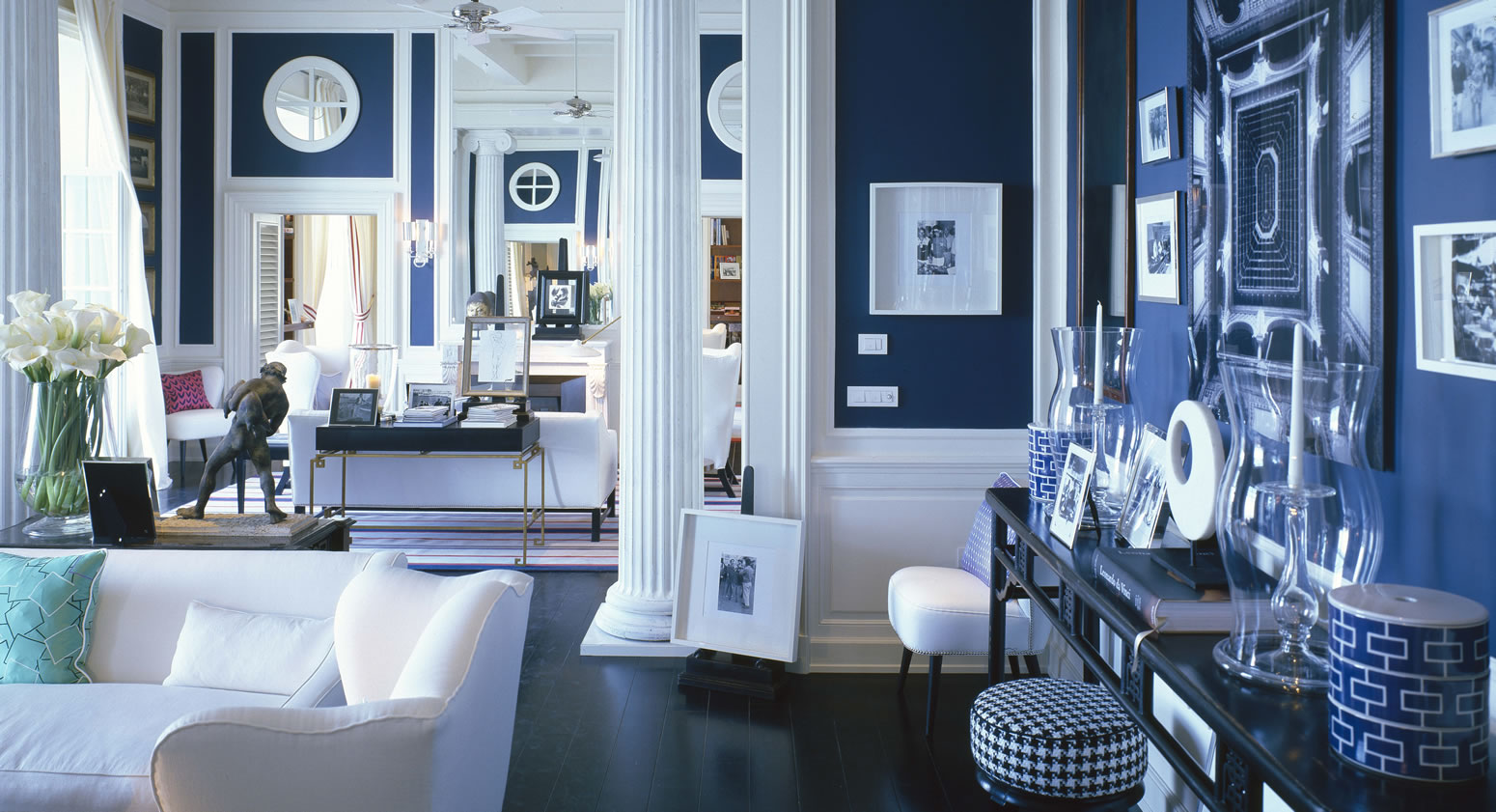 Blue And White Living Room Royal Blue Ihome Furniture