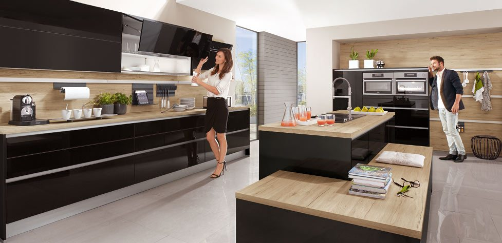 I Home Kitchens Nobilia Kitchens German Kitchens - Küche Nobilia Gloss