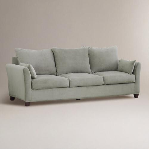 Sofa Velvet Slipcover Cloud Luxe Three-seat Sofa Velvet Slipcover Collection