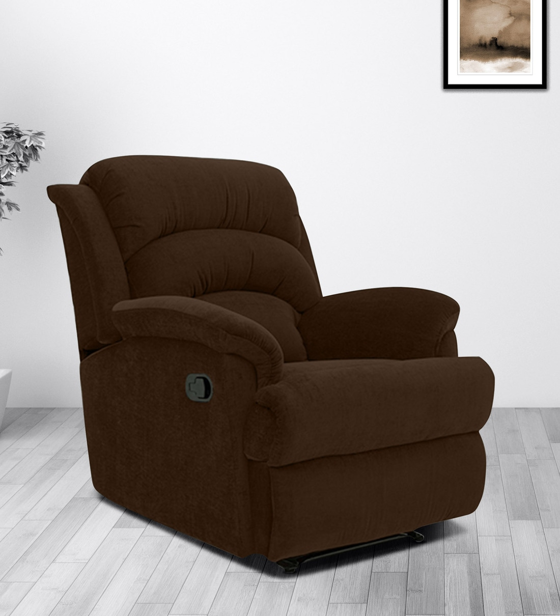Buy Alexandria 1 Seater Manual Recliner In Brown Colour By Furnitech Online Manual 1 Seater Recliners Recliners Furniture Pepperfry Product