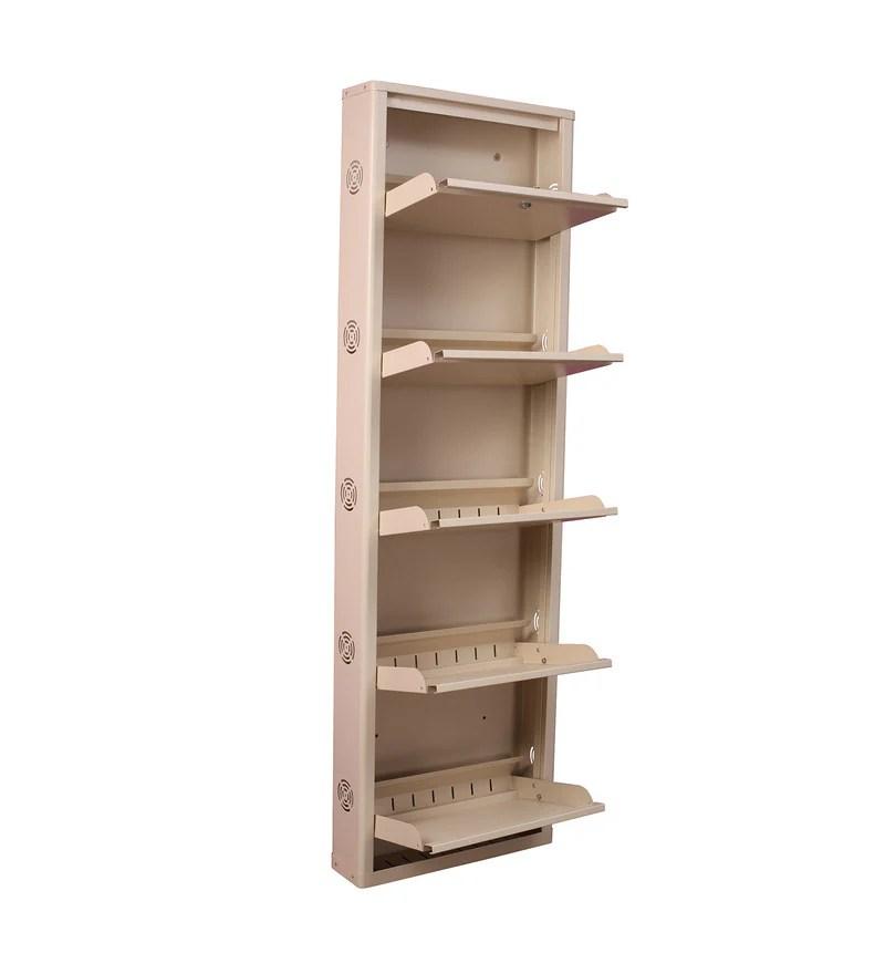 Buy Eliteo Metal Ivory 5 Shelves Shoe Rack Online Shoe