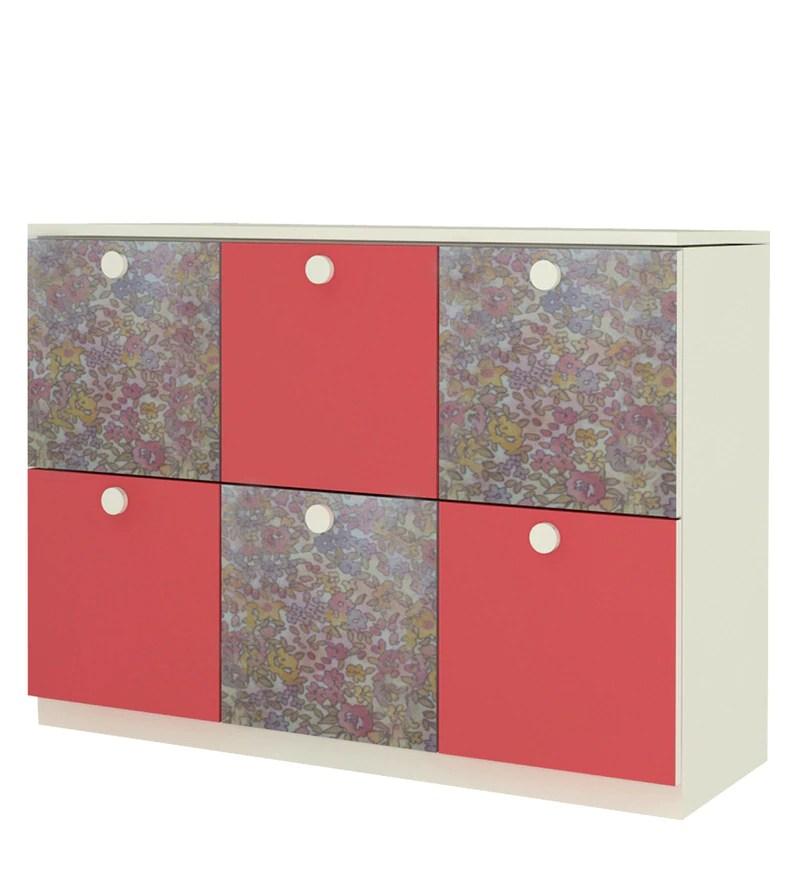 Buy Multipurpose Storage Cabinet in Floral Design by Adona