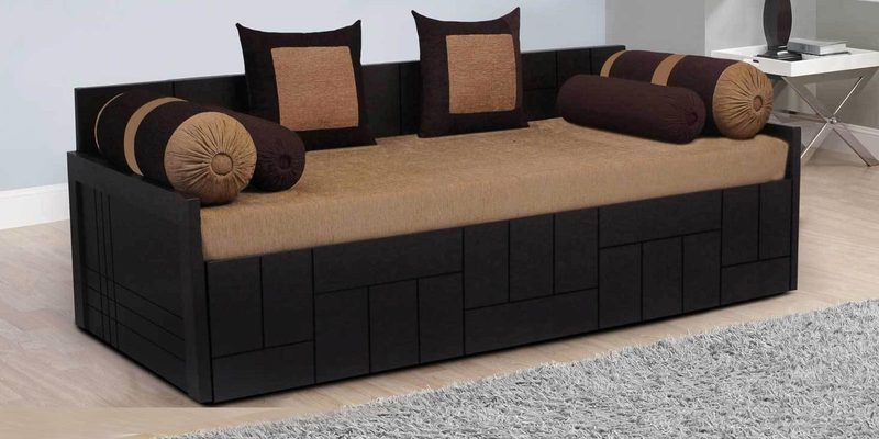 Buy Nelson Sofa Cum Bed With 2 Cushions 4 Bolsters In