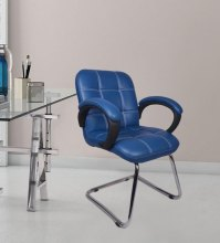 Buy The Azul Low Back Visitor Chair In Blue in Blue Colour ...