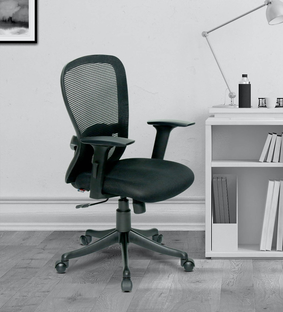 Buy Vancouver Mid Back Ergonomic Chair In Black Colour By Office Today Online Mid Back Ergonomic Chairs Chairs Furniture Pepperfry Product