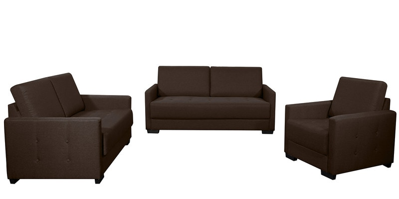 Buy Adria 3 2 1 Sofa Set In Brown Colour By - 3 2 1 Sofa Set