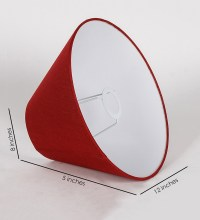 Buy Red Rayon Conical Lamp Shade by Orange Tree Online ...