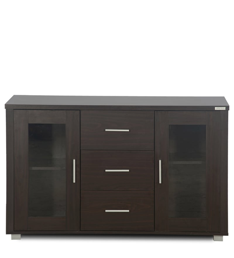 Interio Sofa Bed Buy Sideboard Cabinet With Drawer In Walnut Finish By