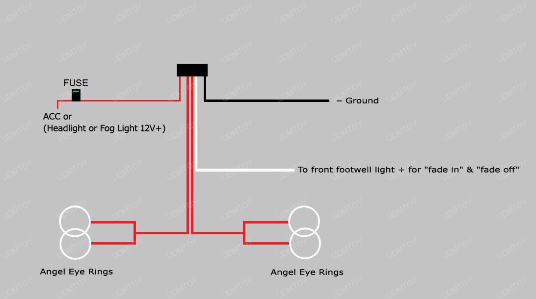 wiring diagram led eyes
