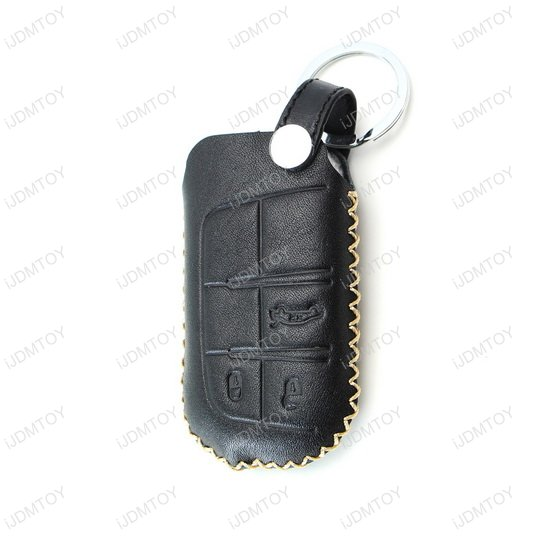 Premium Black Leather Key Holder For 2014 Up Jeep Grand