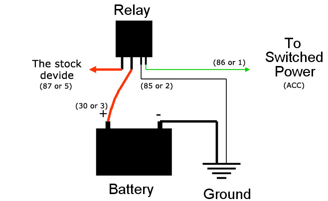 micro 5 pin relay wiring diagram