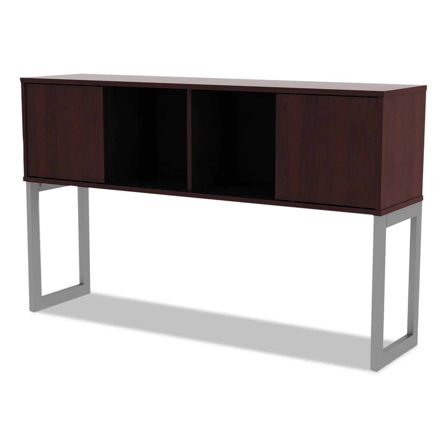 Mahogany Office Desk Alera Open Office Desk Series Hutch 60w X 15d X 36 1 2h Mahogany