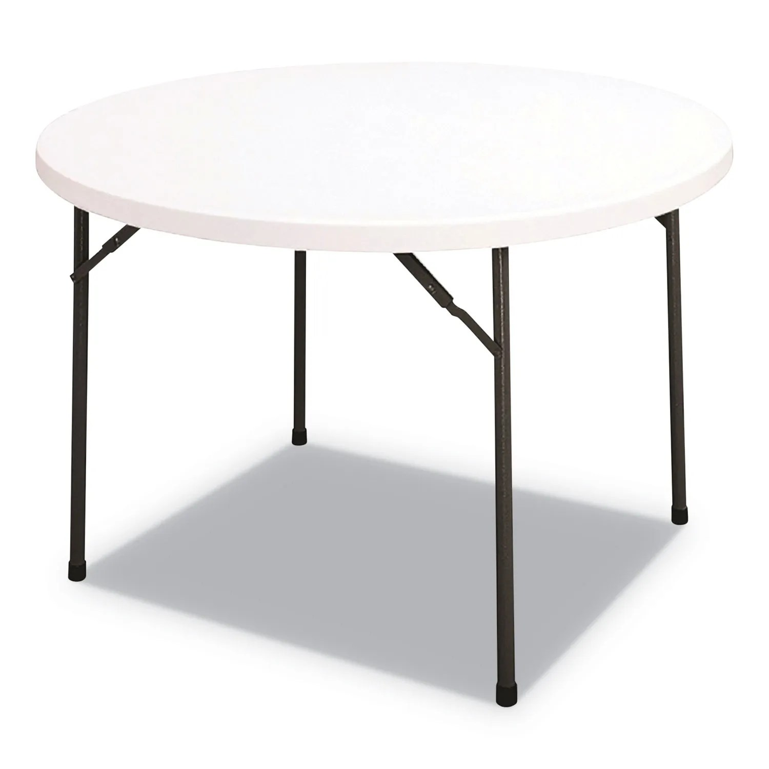 Round Plastic Tables Round Plastic Folding Table 48 Dia X 29h White