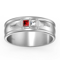 Personalised Engravable Promise Ring Crystals Changeable - New