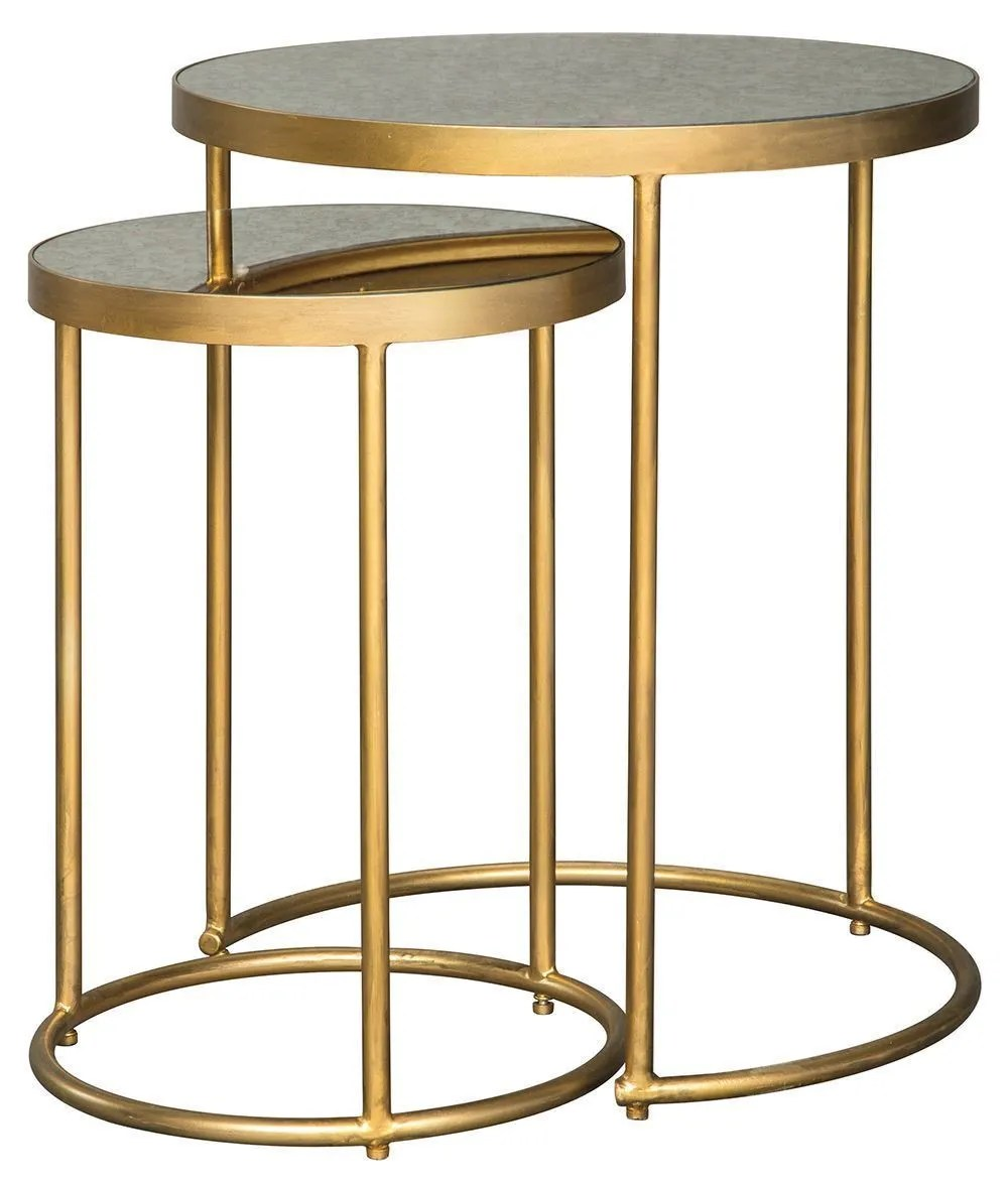 Gold Nesting Coffee Table Majaci Gold Nesting Tables