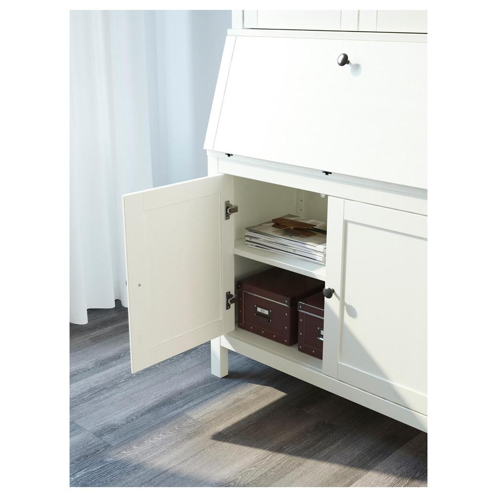 Hemnes Bureau With Additional Module White Stain 399 328 35 Reviews Price Where To Buy