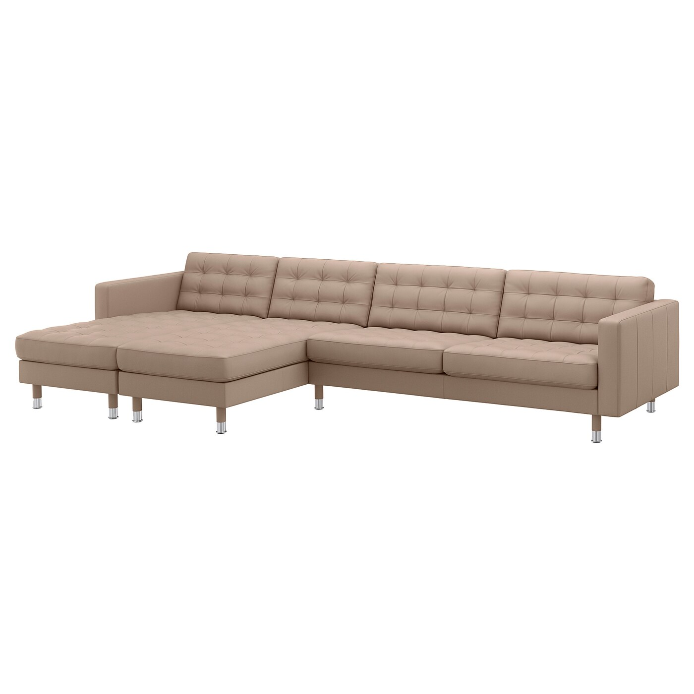 Landskrona 5 Seat Sofa With Chaise Longues Grann Bomstad Dark Beige Metal Ikea