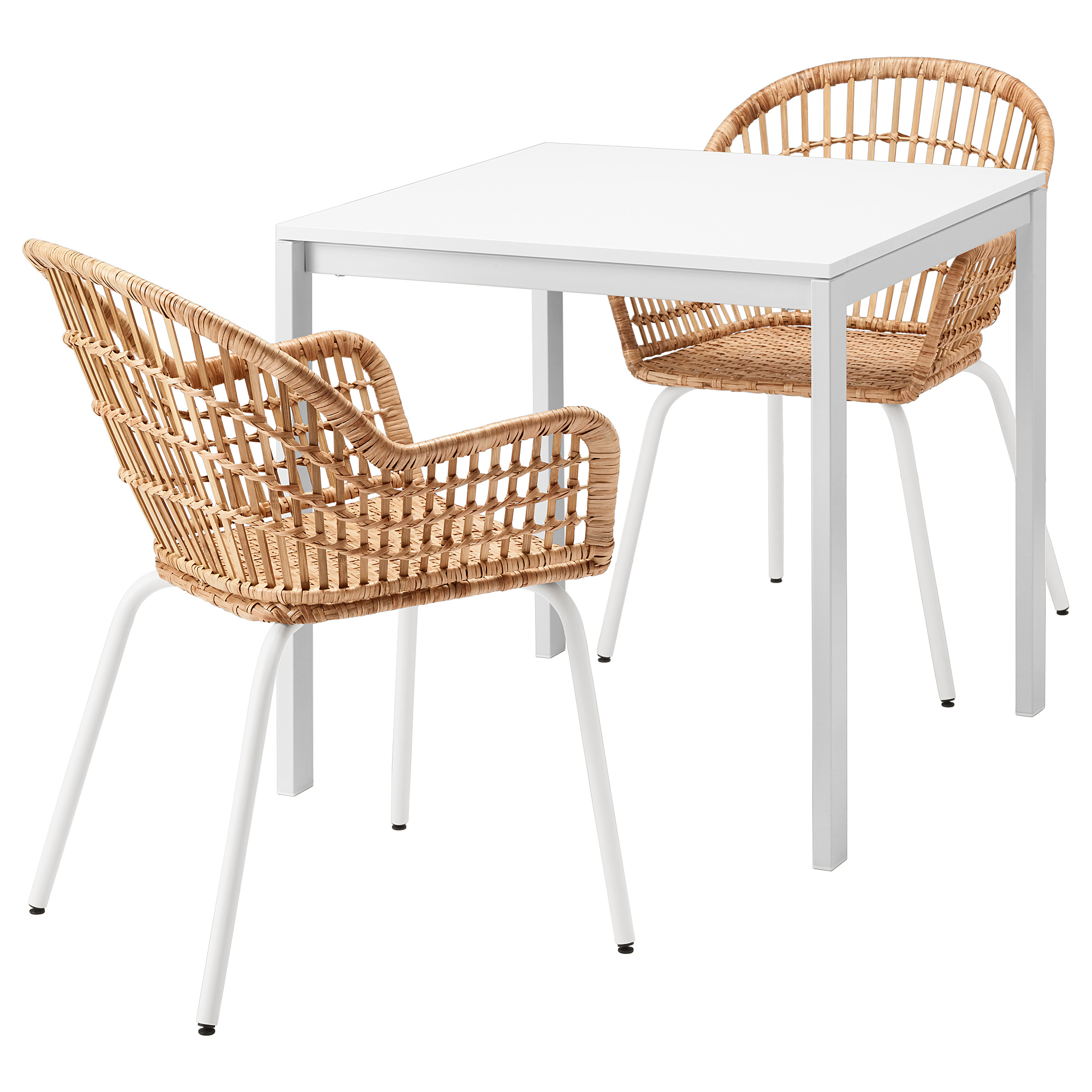 Melltorp Nilsove Table And 2 Chairs White Rattan White Ikea Hong Kong And Macau