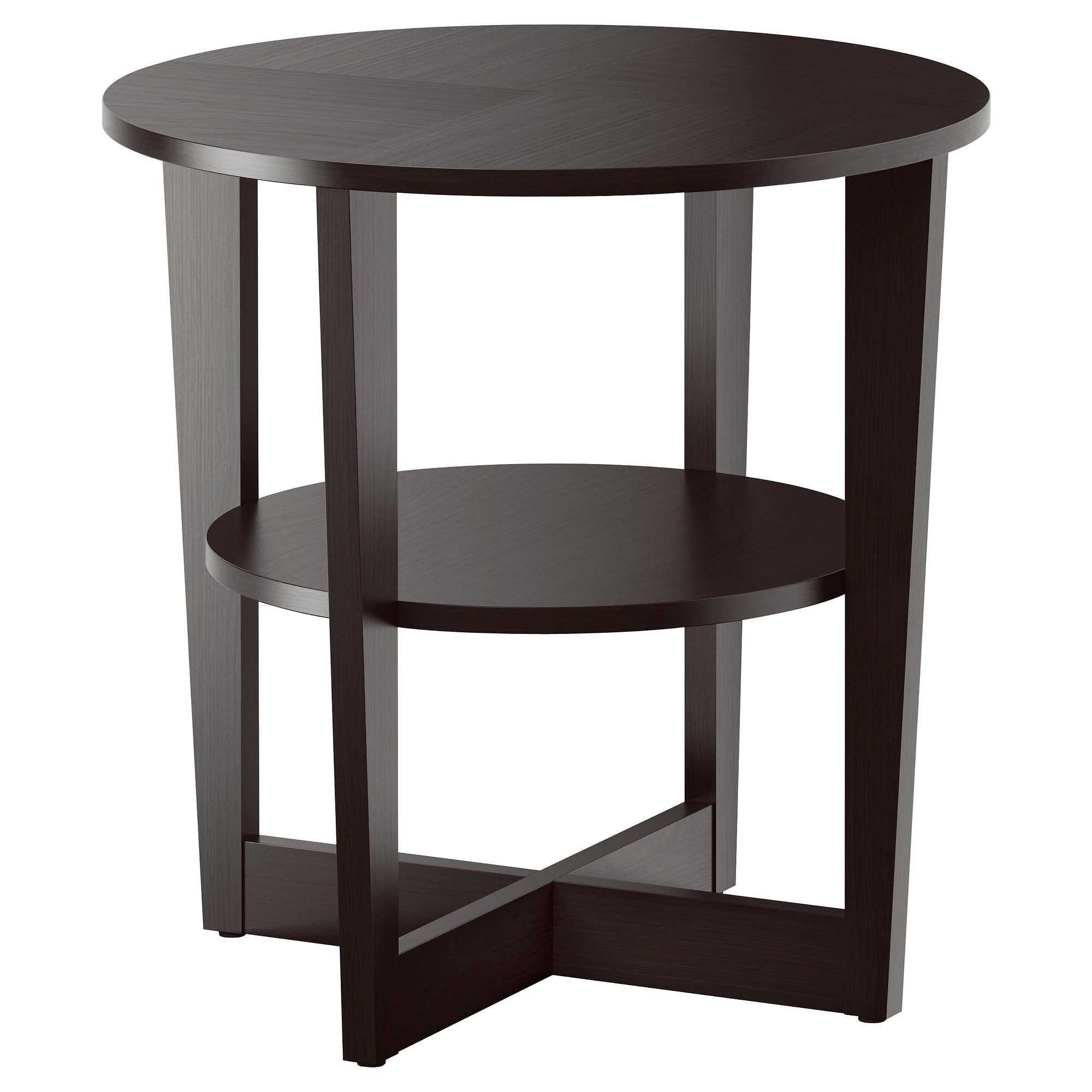 Table D'appoint Ikea Vejmon Side Table Black Brown