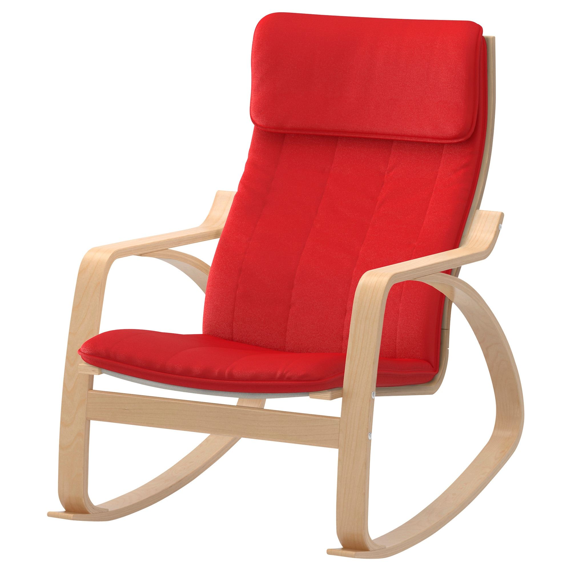 Chair Price PoÄng Rocking Chair Birch Veneer Ransta Red
