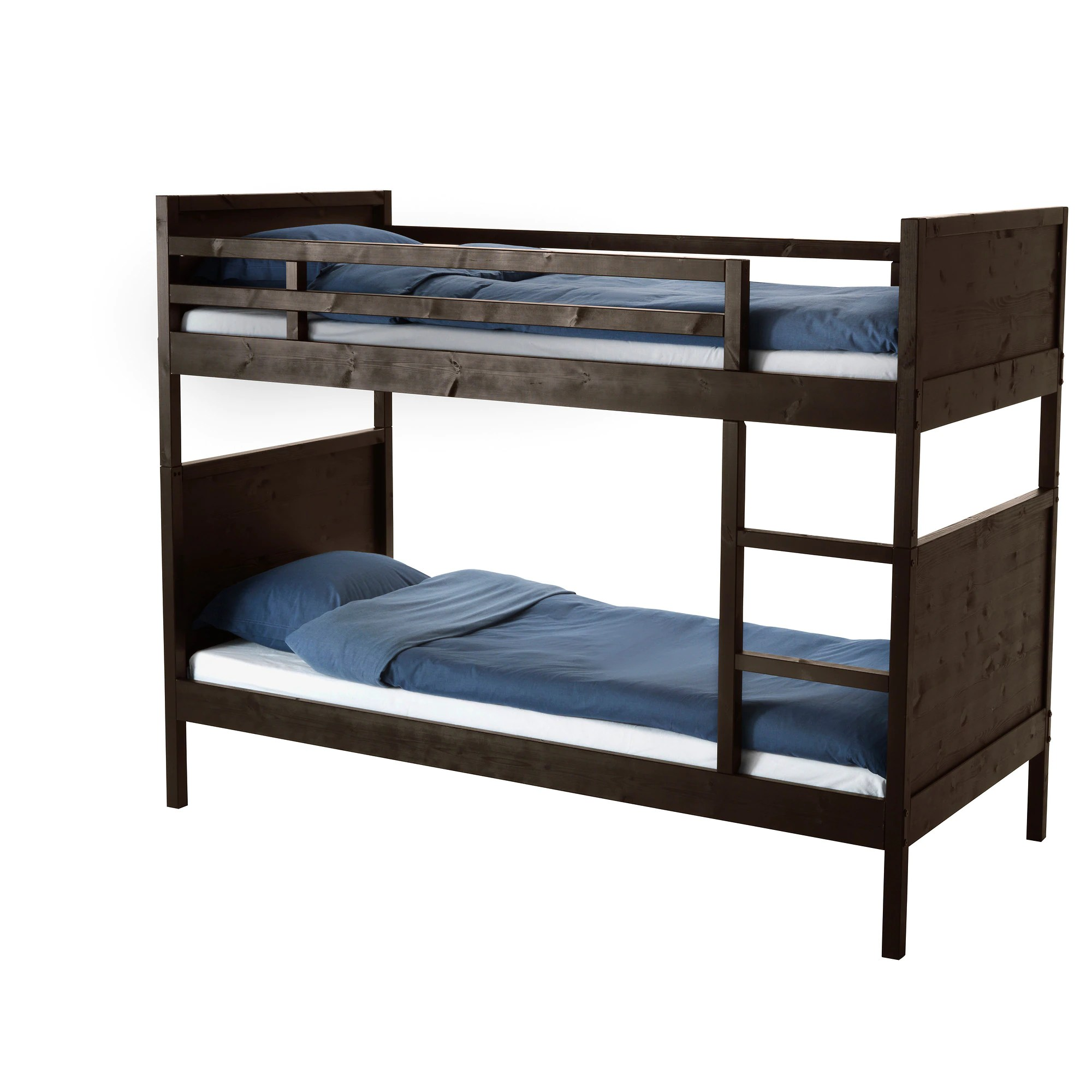 Stackable Twin Beds Norddal Bunk Bed Frame Black Brown