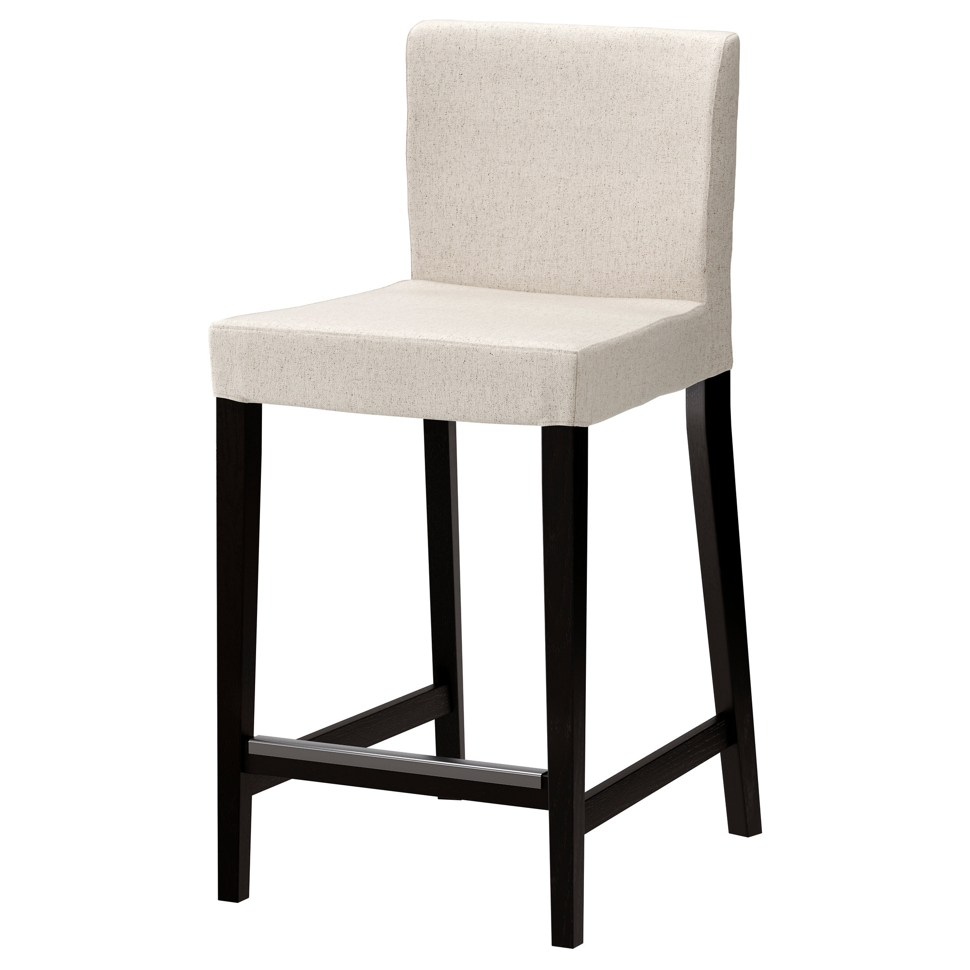 Stool Chair Henriksdal Bar Stool With Backrest Brown Black Linneryd Natural