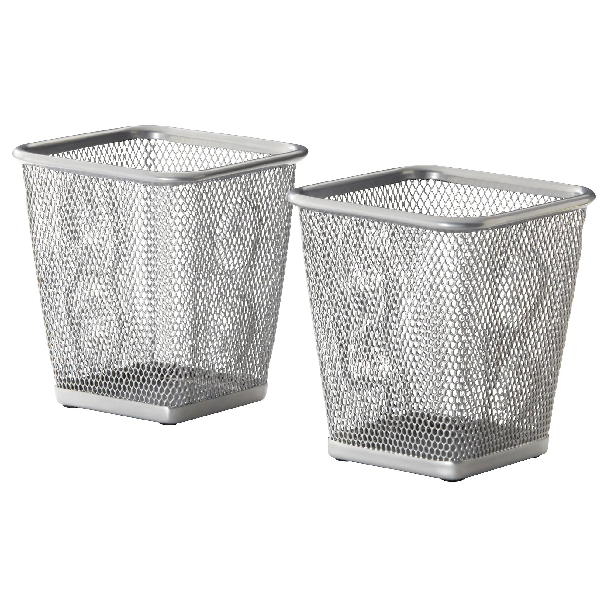 Ikea Box Holder Dokument Pencil Cup Silver Color
