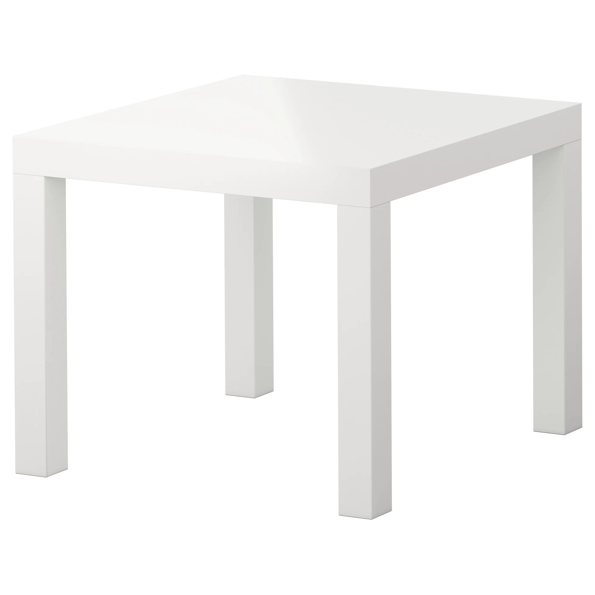 Table D'appoint Ikea Lack Table D Appoint Brillant Blanc