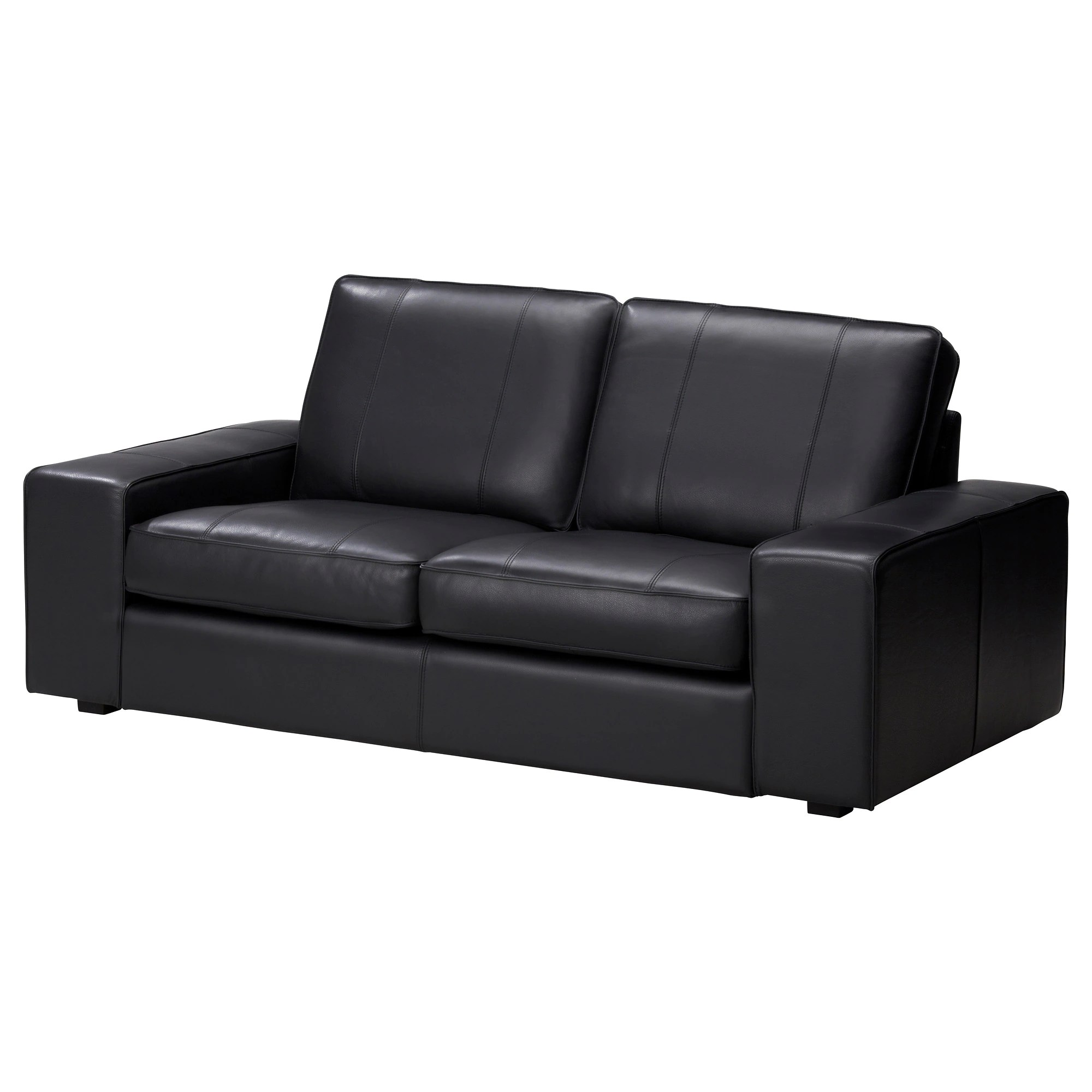 Kivik Sofa Leather Kivik Loveseat Grann Bomstad Black