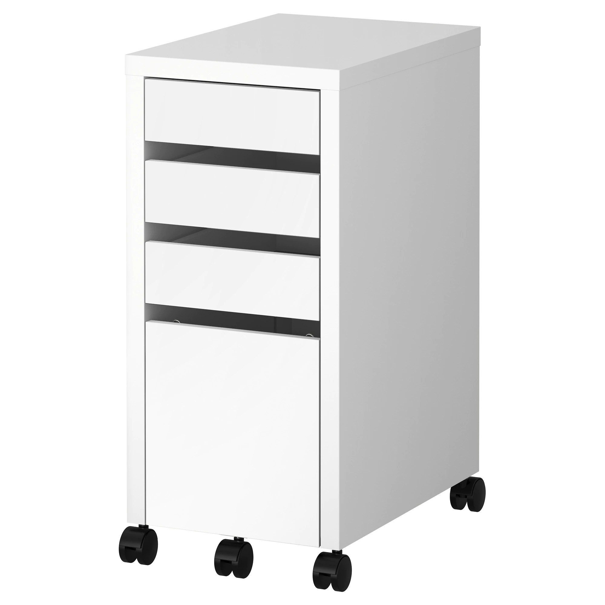 Rolling Filing Cabinets Micke Drawer Unit Drop File Storage White