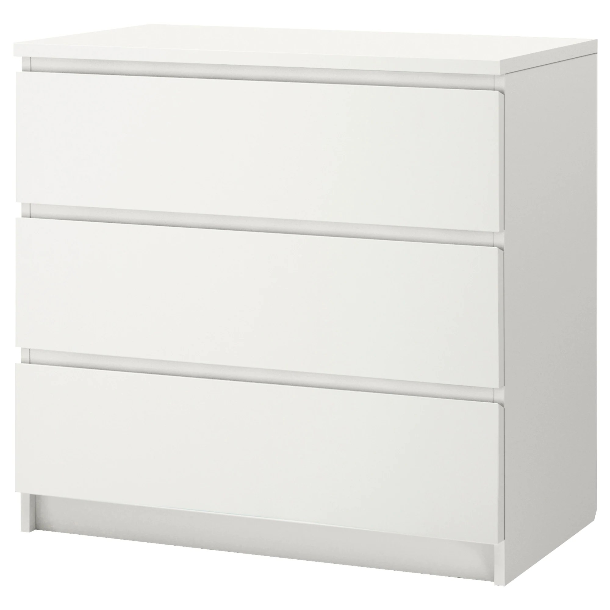 Meubles Ikea France Sas Malm Commode 3 Tiroirs Blanc